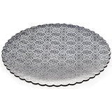 Scalloped Edge Cake Circles - Silver