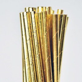 Solid Gold Straws
