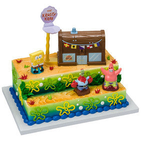 SpongeBob SquarePants Krusty Krab Signature Cake DecoSet