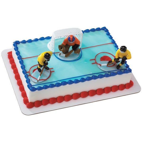 Hockey Face Off Cake Topper