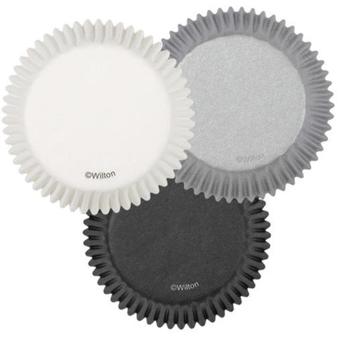 Assorted Gray Scale Baking Cups