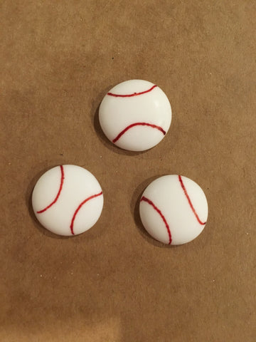 Mini Baseballs (Royal Icing)