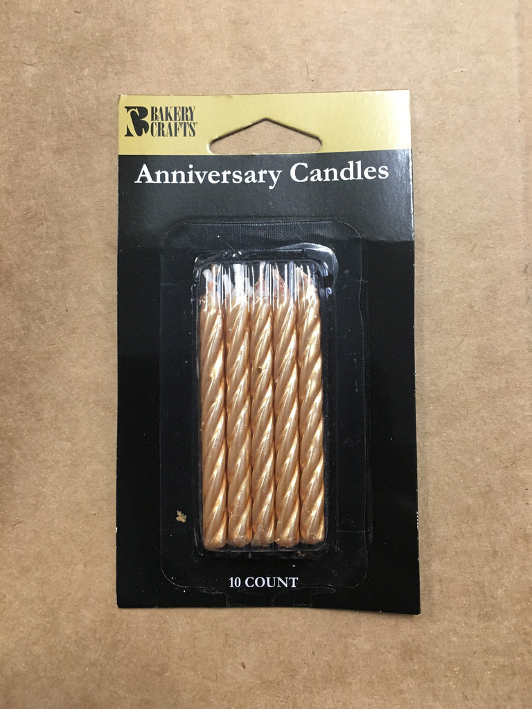 Gold Anniversary Candles
