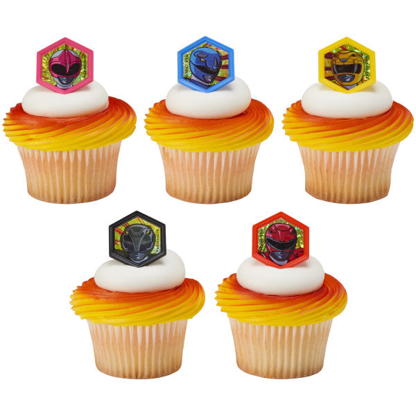 Power Ranger - It's Morphin Time - Cupcake Rings