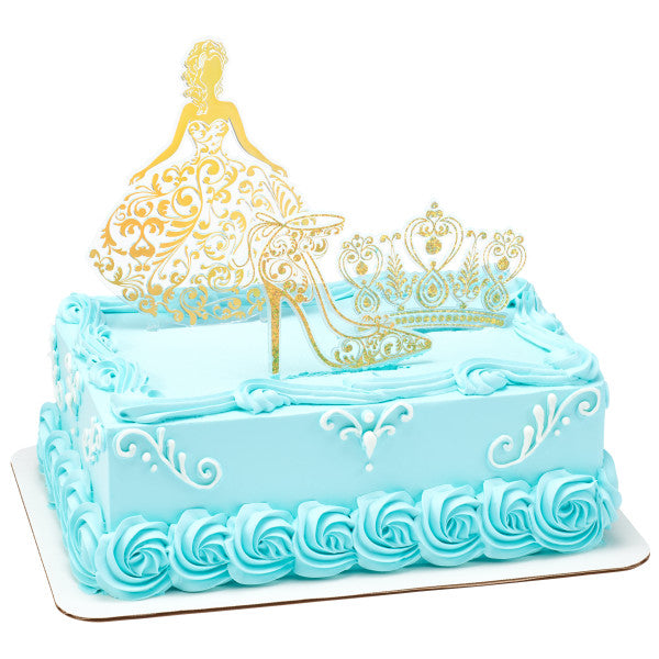 Quinceanera Cake Kit- Gold
