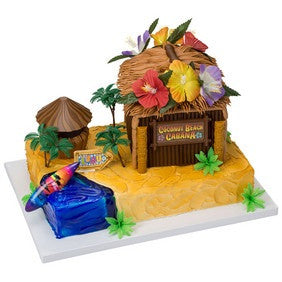 Coconut Cabana Tiki Hut Decoset