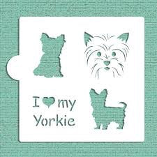 I Love My Yorkie Cookie Stencil
