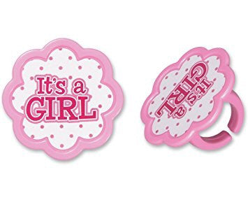 It's a Girl Cupcake Rings