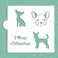 I Love My Chihuahua Cookie Stencil