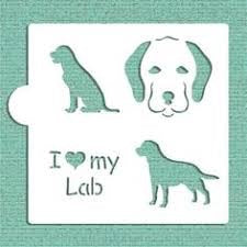 I Love My Lab Cookie Stencil