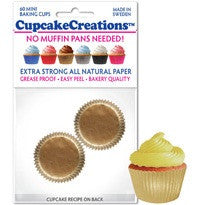 Mini Gold Greaseproof Liner - Cupcake Creations