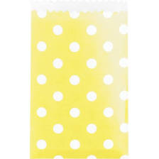 Yellow with White Polka Dot Goodie Bags