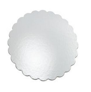 Scalloped Edge Cake Circles - White