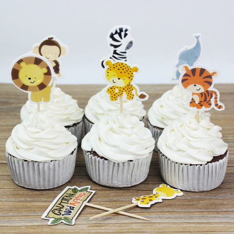 Jungle Animal Cupcake Picks