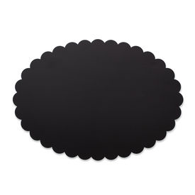 Scalloped Edge Cake Circles - Black