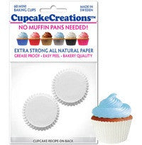 Mini White Greaseproof Liner - Cupcake Creations