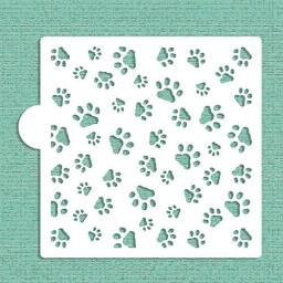 Mini Dog Paws All Over Cookie Stencil