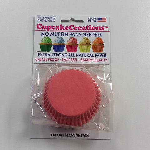 Coral Greaseproof Liner - Cupcake Creation