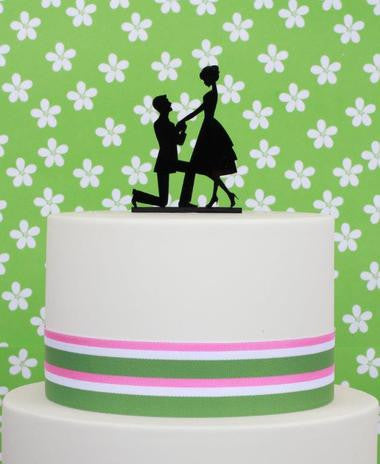 Sugar Crafty Proposal Acrylic Cake Topper