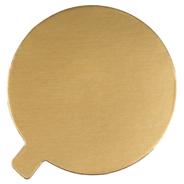 "Tabbed Cake Board 4"" Black/Gold"