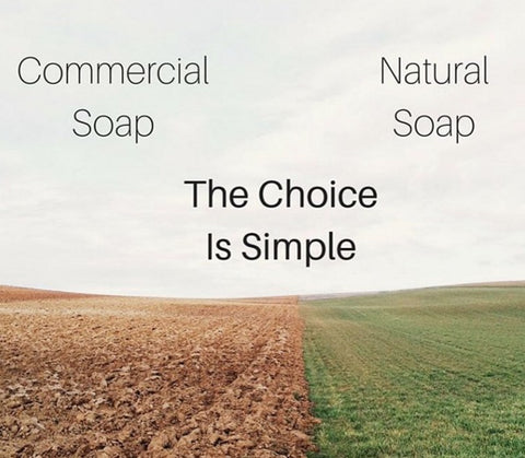 Natural Soap vs Commercial Soap
