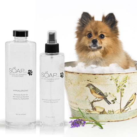 Pet Spa Natural Shampoo Conditioner and Lavender Finishing Spray