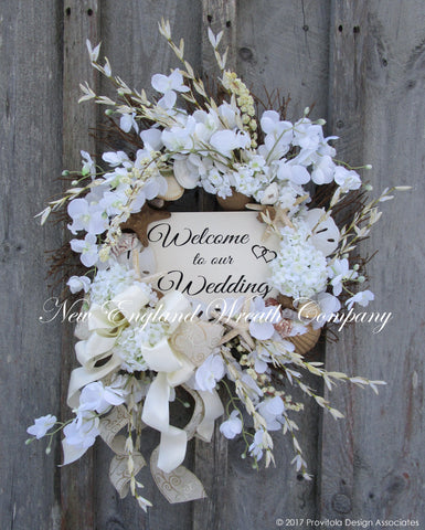 Elegant Seashell Wedding Wreath