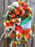 St. Patrick's Day Wreath with Flag of Ireland