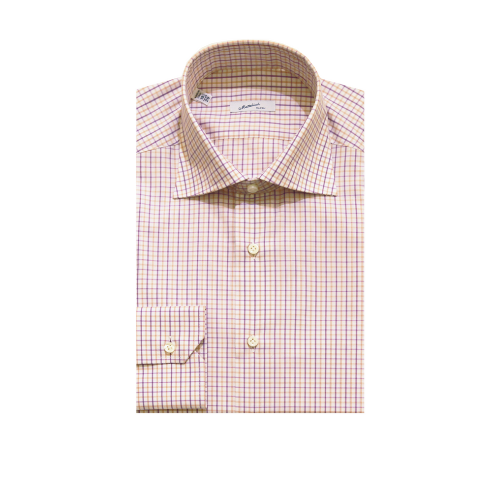 Mattabisch Cotton Shirt by Kiton (Purple & Yellow)