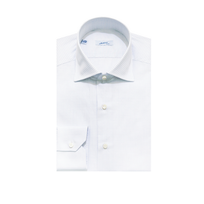 Mattabisch Cotton Shirt (Blue Grid)