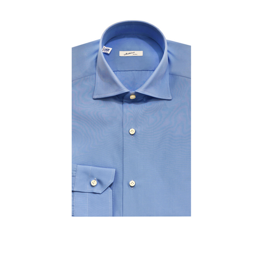 Mattabisch Cotton Shirt by Kiton (Solid Blue)
