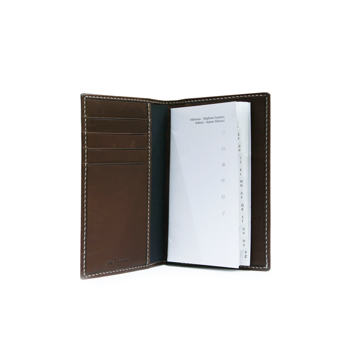 KITON LEATHER POCKET ADDRESS BOOK
