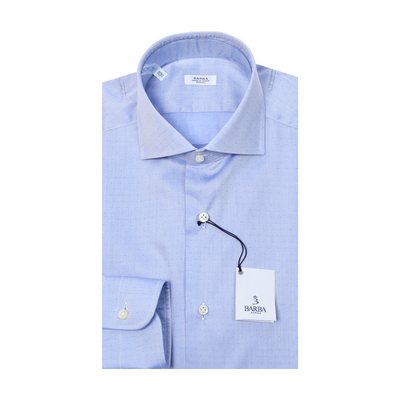 Classic Dotted Dress Shirt - Blue