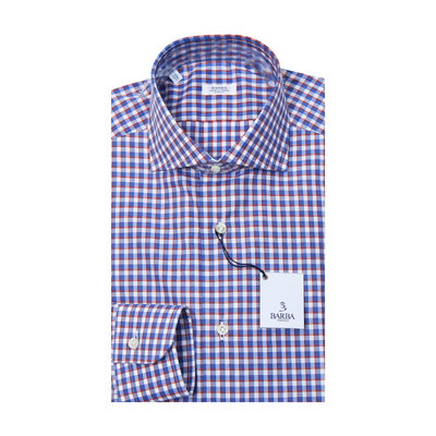 Classic Double Check Dress Shirt - Blue / Red