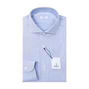 Classic Striped & Dotted Dress Shirt - Blue / White