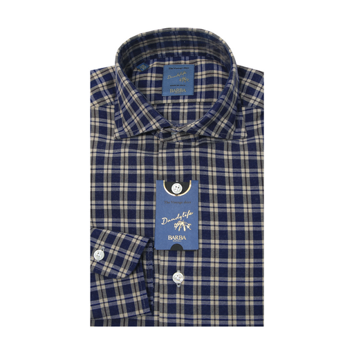 Dandy Life Flannel Checkered Shirt - Blue / Brown
