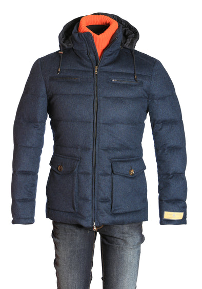 Carlo Barbera Goose Down Outerwear (with Alligator Elbow Patches)