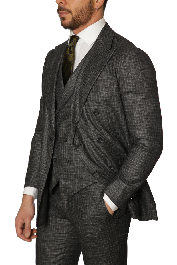 Kiton  - Double Breasted Three Piece Suit - Grey