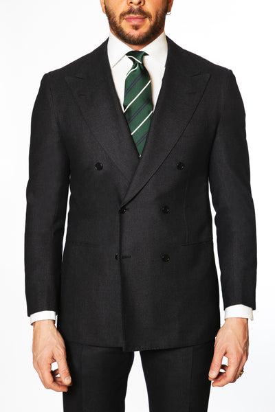 Kiton - 14 Micron Double Breasted Suit - Navy