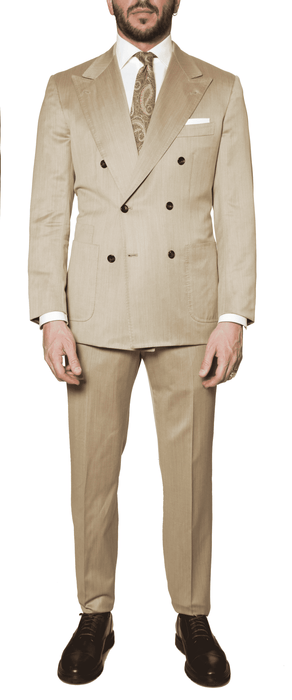 Kiton - Double Breasted Suit - Tan