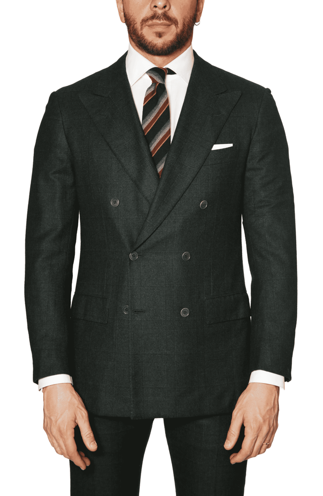 Kiton  - Cashmere Plaid  Suit - Ivy Green