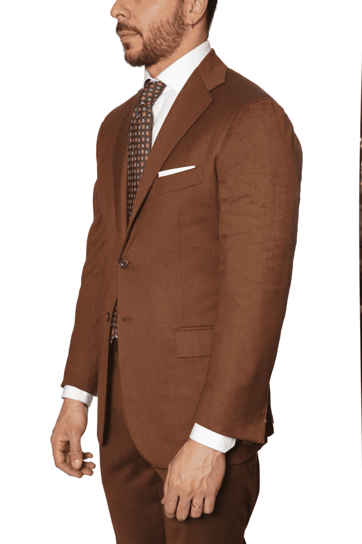 Kiton - 14 Micron Double Breasted Suit - Hazel