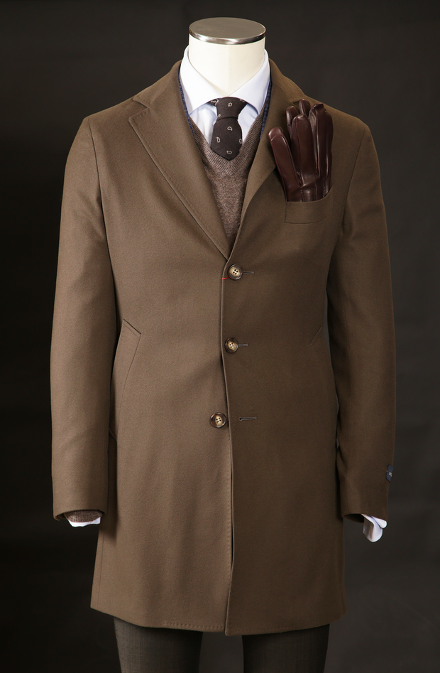 Men's Cashmere Overcoat in Camel