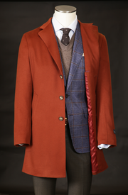 Men's Cashmere Overcoat in Amber
