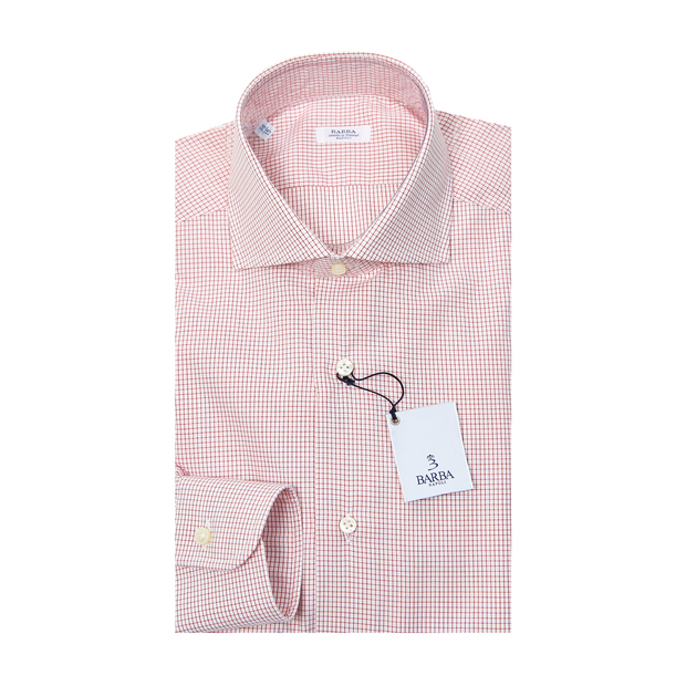 Classic Check Dress Shirt - Red