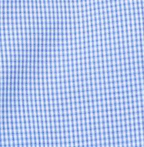 Classic Small Check Dress Shirt - Blue