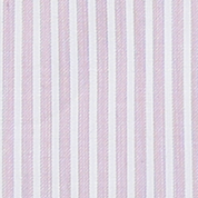 Classic Wide Striped Dress Shirt - White / Pink