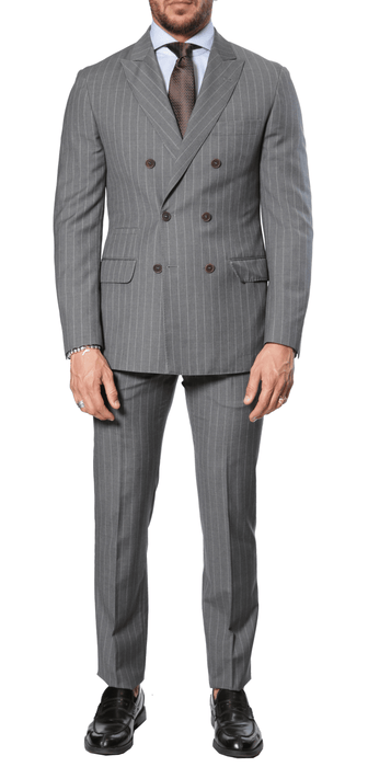 Brunello Cucinelli - Pinstripe Suit - Grey
