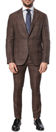 Brunello Cucinelli - Plaid Suit - Brown