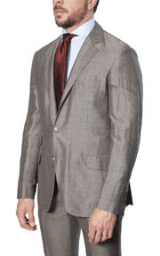 Brunello Cucinelli - Micro Houndstooth Suit - Light Brown